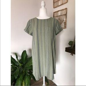 NWOT Cloth & Stone linen striped tshirt dress